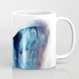 Blue bird in flight Coffee Mug