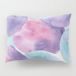 Abstract watercolor pattern, purple and violet watercolor circles and spots Pillow Sham