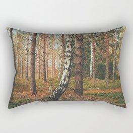 Lone Birch Rectangular Pillow