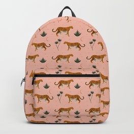 Big Cat pattern Softpink Backpack