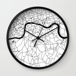 London Minimal Map Wall Clock