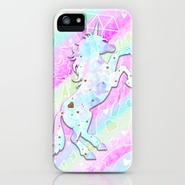 Pastel Rainbow Unicorn iPhone Case
