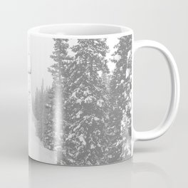Empty Chairlift // Alone on the Mountain at Copper Whiteout Conditions Foggy Snowfall Coffee Mug