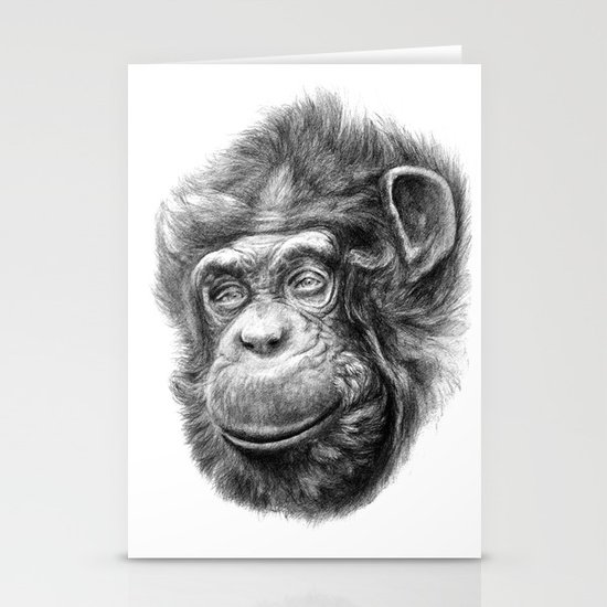 Wise Chimp SK067 Stationery Cards