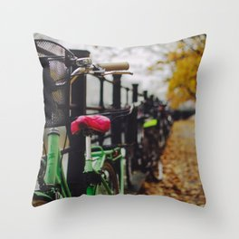 Berlin Bikes Throw Pillow