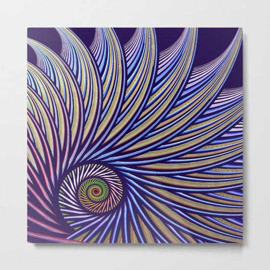 Fantasy bird's eye, fractal pattern abstract Metal Print