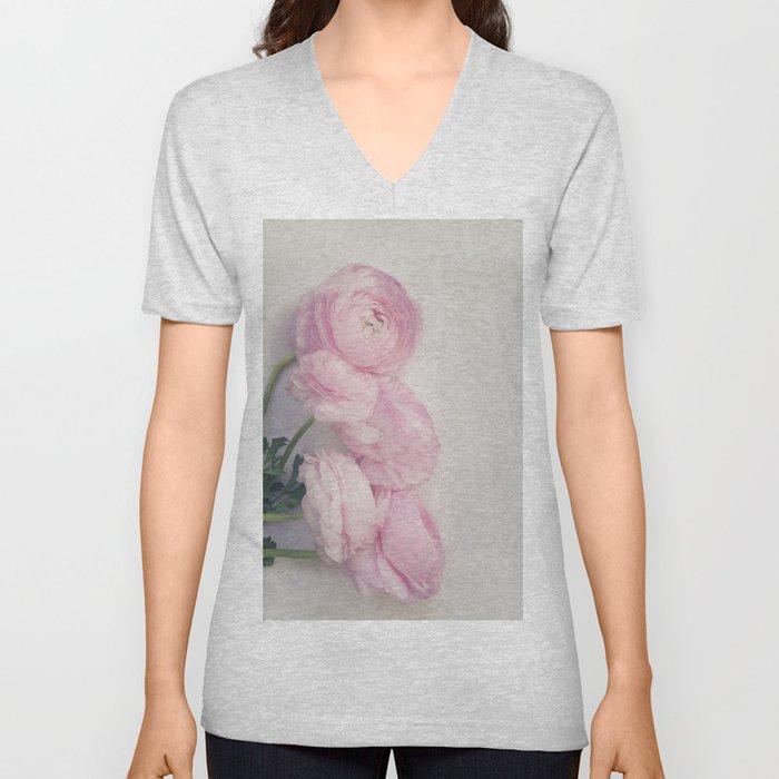Pink Peonies Unisex V-Neck