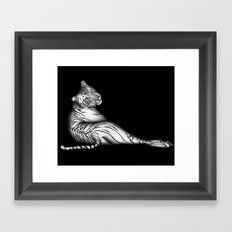 The Hunter in Black Framed Art Print