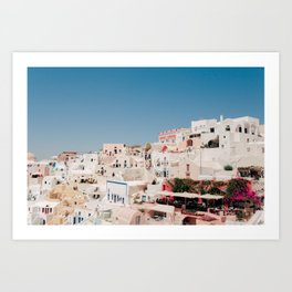 Santorini 0016: Houses in Oia, Santorini, Greece Art Print