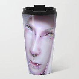 Humanoid Black Dragon Travel Mug