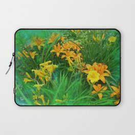 Day-glo Lilies Laptop Sleeve