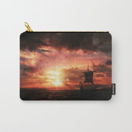 Viking Ship sunset painting by Alex Kerr Carry-All Pouch
