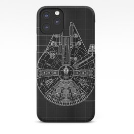 Millennium Falcon Blueprint iPhone Case