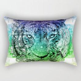 mandala tiger color Rectangular Pillow