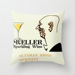 Mueller sparkling wine Throw Pillow