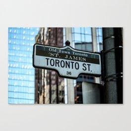 Toronto Street Sign Canvas Print