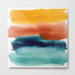 Rainbow Abstract #! Metal Print