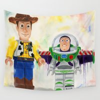 woody Wall Tapestries featuring Buzz & Woody Lego by Toys 'R' Art