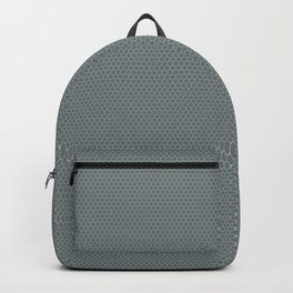 PPG Night Watch Pewter Green Small Honeycomb Pattern Backpack