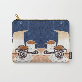 Coffee for Two Drawing by Amanda Laurel Atkins Carry-All Pouch