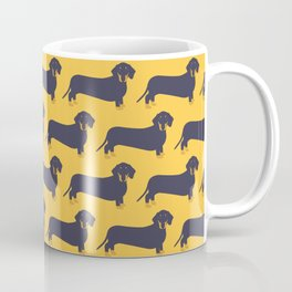 Trendy Dachshund Illustration Pattern Coffee Mug