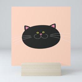 Happy Cat Portrait Mini Art Print