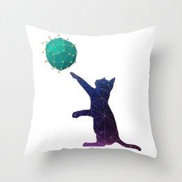 Universal kitty Throw Pillow