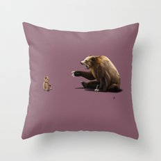 Brunt (Colour) Throw Pillow