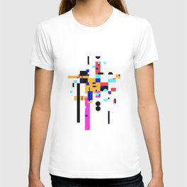 Abstract minimalism collage T-shirt