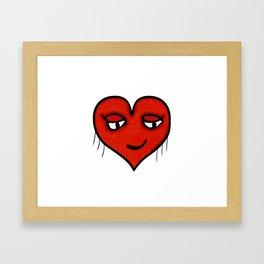 Emoji Heart Shape Drawing Pattern Framed Art Print