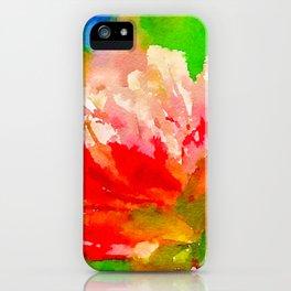 Red Peony iPhone Case