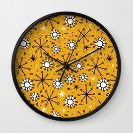Mid Century mustard Wall Clock