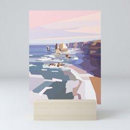 Geometric Great Ocean Road Mini Art Print