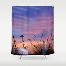 LOOK OUTSIDE - Flowers & Sunset #1 #art #society6 Shower Curtain