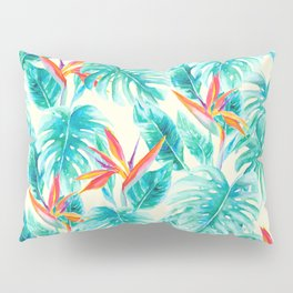 Tropical Paradise Pale Yellow Pillow Sham