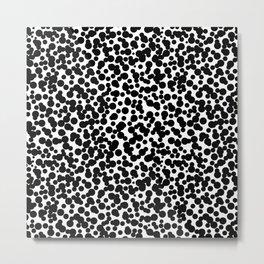 Black Dot Pattern Metal Print