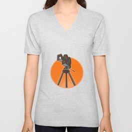 Vintage 35mm Motion Picture Camera Retro Unisex V-Neck