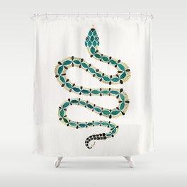 Emerald & Gold Serpent Shower Curtain