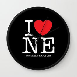 I Heart (Love) Northern Exposure Wall Clock
