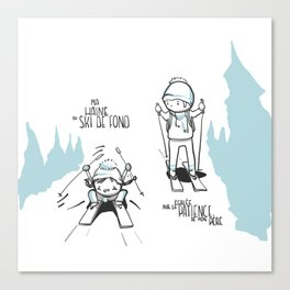 Souvenirs - Skiing Canvas Print