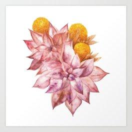 Mustard and wine Art Print