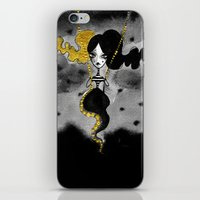 dark side of the moon iPhone & iPod Skins featuring Dark Side of the Moon by Dnzsea
