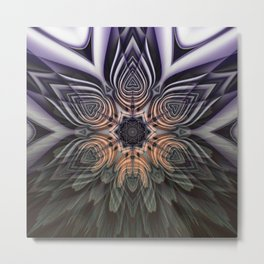 Dramatic transformation mandala Metal Print
