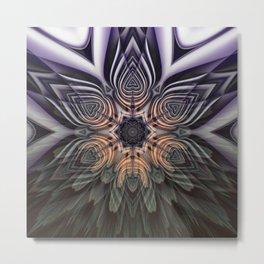 Dramatic transformation mandala Metal Print