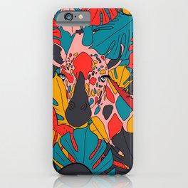 The colourful giraffe iPhone Case