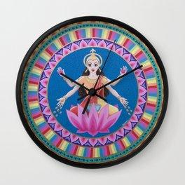 Goddess Lakshmi Lotus Mandala Wall Clock