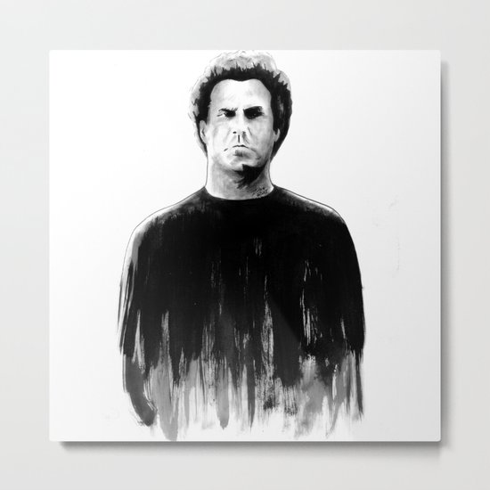 DARK COMEDIANS: Will Ferrell Metal Print