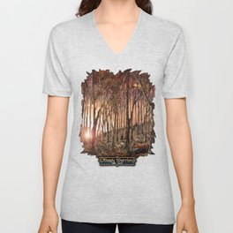 Forest at Sunset Unisex V-Neck