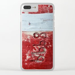 Buoy #8999 Clear iPhone Case