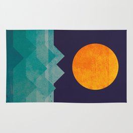 The ocean, the sea, the wave - night scene Rug